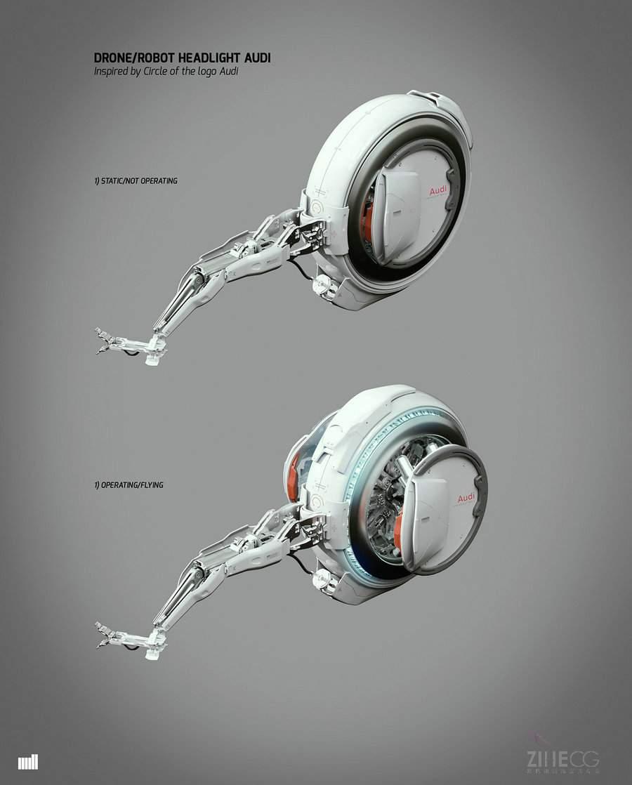 奥迪A3汽车最新广告AUDI Next Level - Concept Art