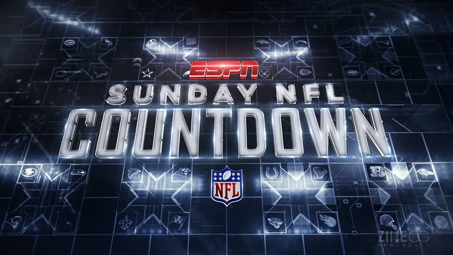 体育频道橄榄球频道栏目包装―ESPN  Sunday NFL