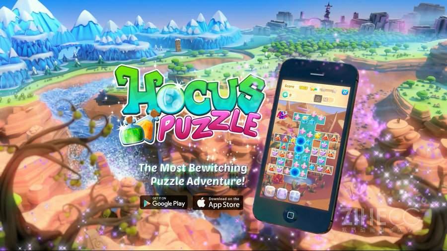 国外手游宣传视频以及幕后制作 HocusPuzzle Trailer Breakdown