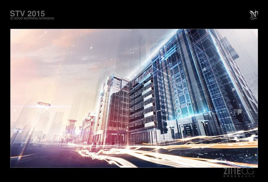 """""""N3作品集-炫酷高科技《上海新闻频道》栏目包装参考片STV/"""
