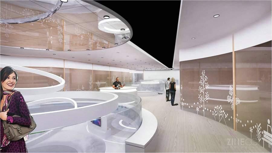中兴巴塞罗那世界移动通信大会展示设计