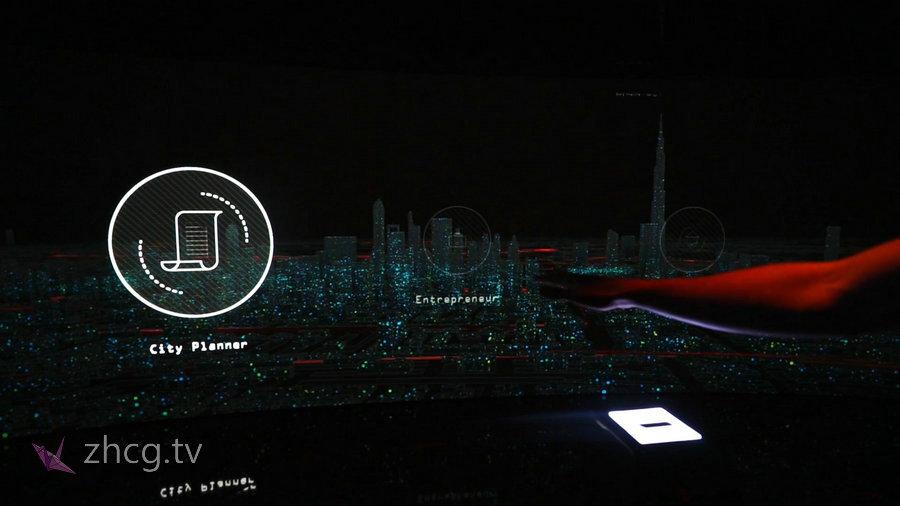 迪拜互动城市数据可视化Interactive Urban Data Visualisation