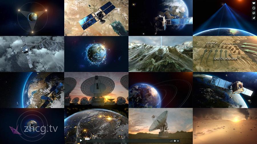 大气太空地球太空站高清HD镜头素材