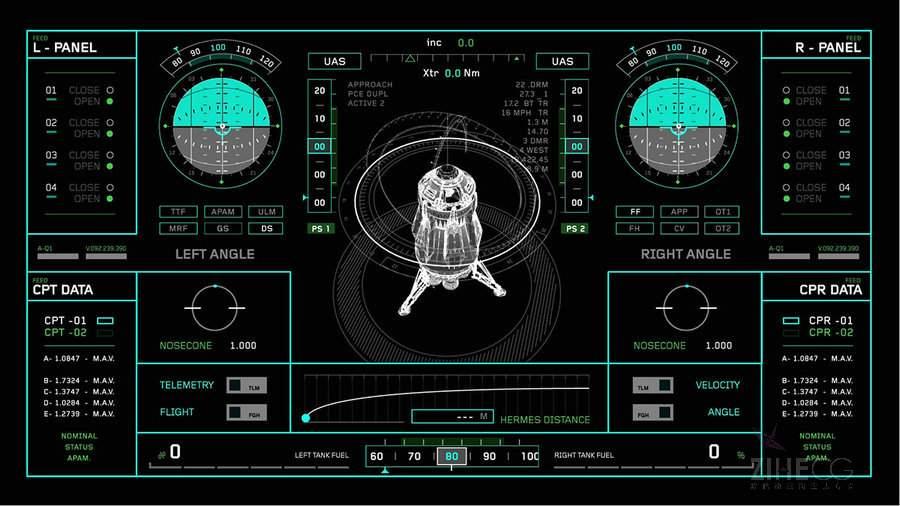 火星救援电影HUD UI设计