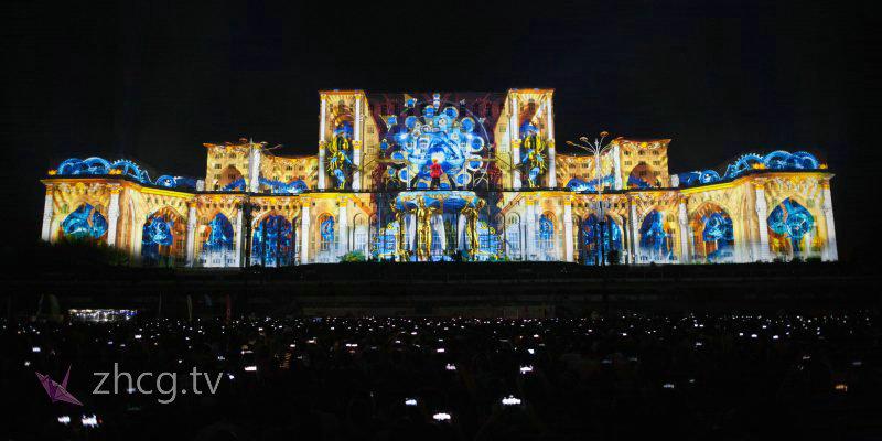 4K 2018年 iMapp Bucharest 布加勒斯特灯光节 3D mapping 参赛作品