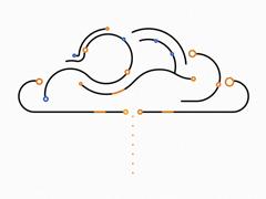 极简线条动画-连接未来的世界