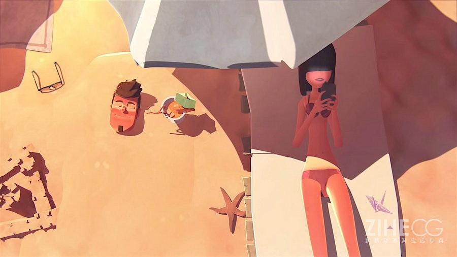 法国得奖动画-两对情侣的故事 拜�你不要再滑手机了!!!!! by William Loew
