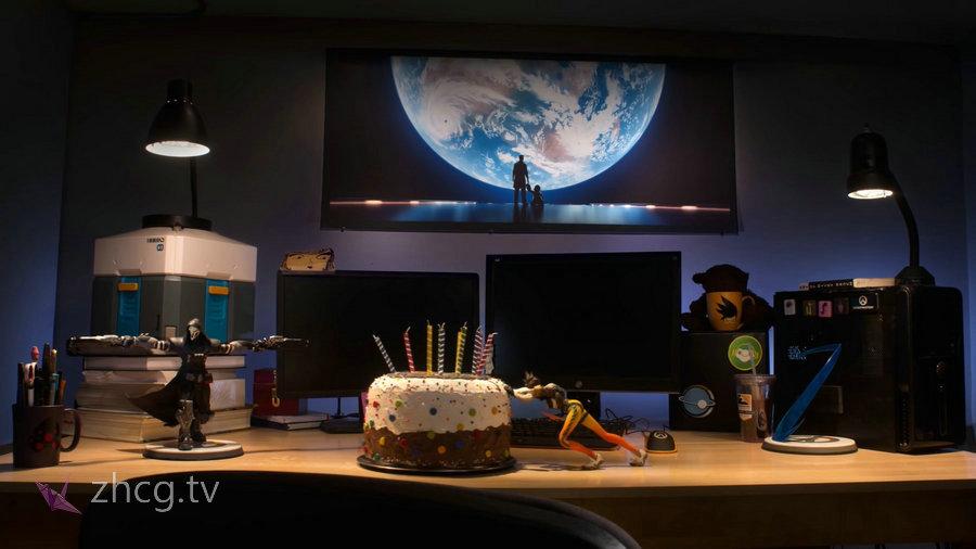 暴雪出品守望先锋周年庆定格动画Overwatch 「蛋糕王闪光」Trace & Bake