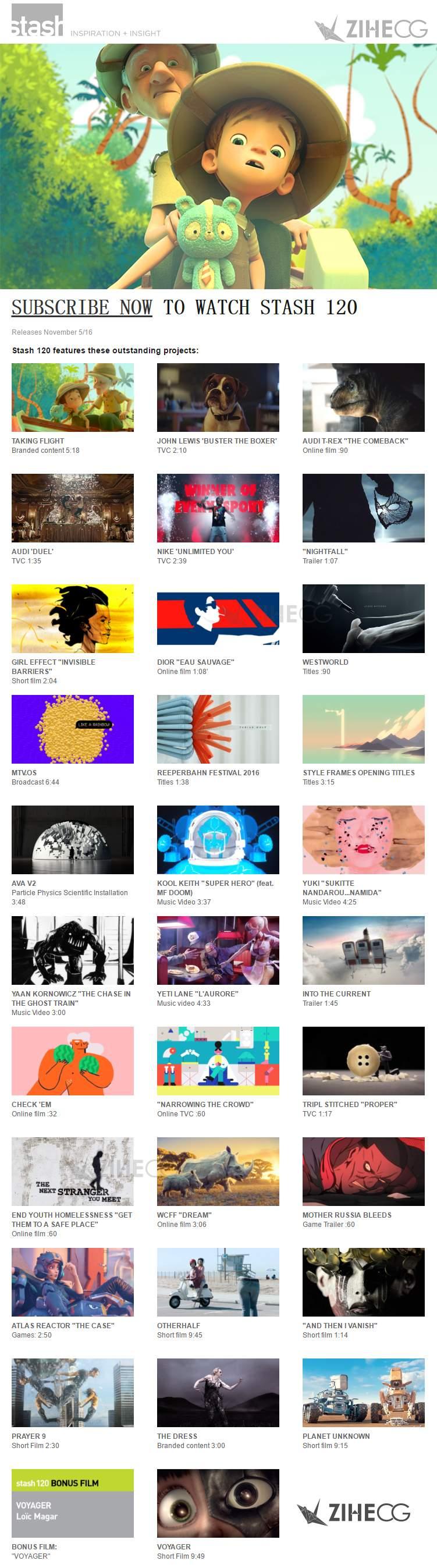 美国2016年11月STASH120期 1080P VFX 电视包装、广告创意、动画