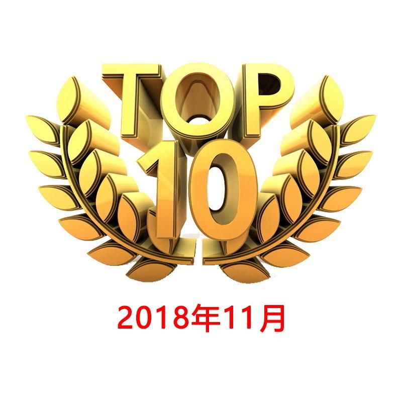 2018年11月份 YouTube全球TVC 电视广告TOP 10